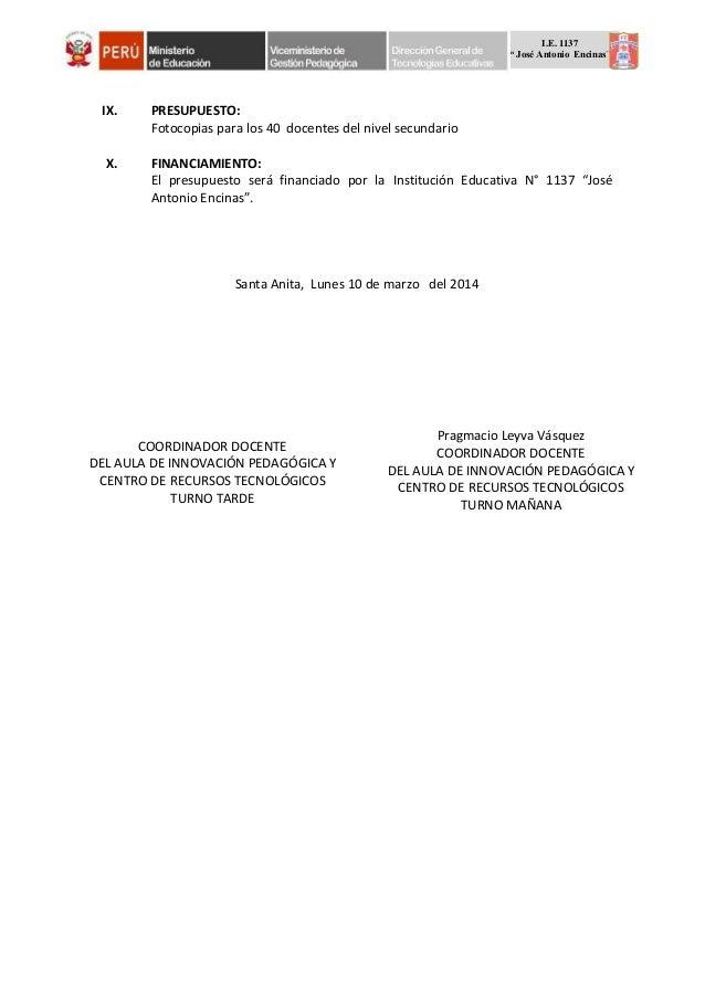Proyecto De Capacitaci 243 N Docente 2014