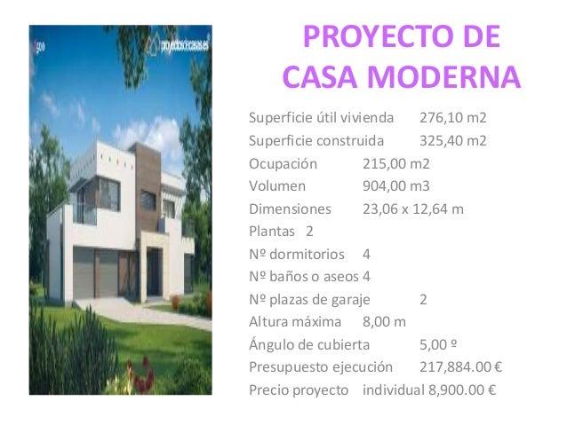 proyecto de casa moderna
