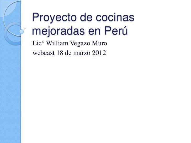 Proyecto de cocinas mejoradas en per for Proyectos de cocina