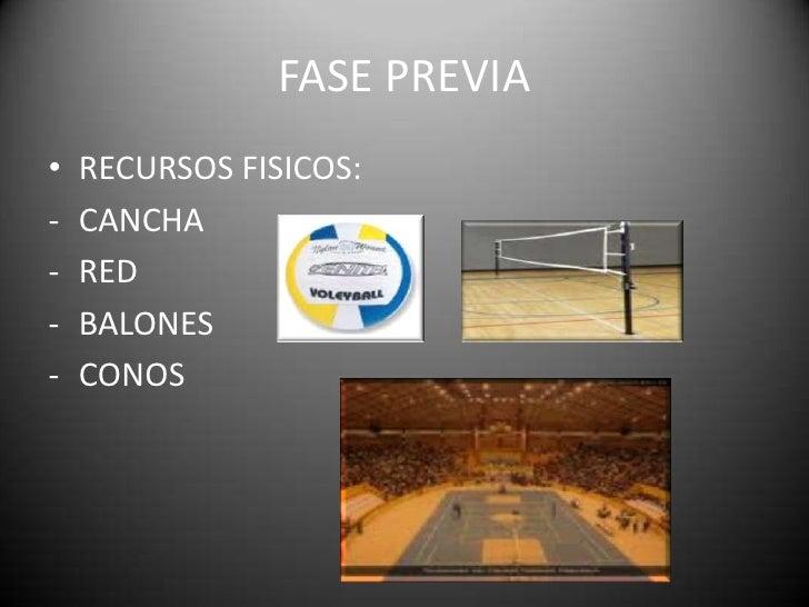 FASE PREVIA<br />RECURSOS FISICOS:<br /><ul><li>CANCHA
