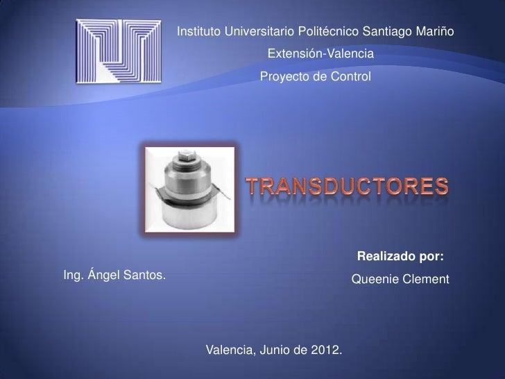 Instituto Universitario Politécnico Santiago Mariño                                     Extensión-Valencia                ...