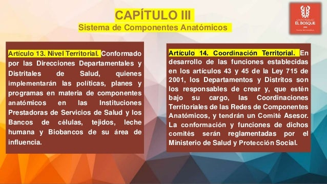 Artículo 13. Nivel Territorial. Conformado por las Direcciones Departamentales y Distritales de Salud, quienes implementa...