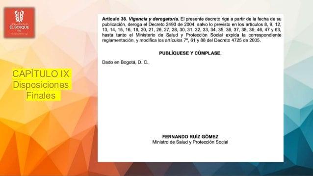 CAPÍTULO IX Disposiciones Finales