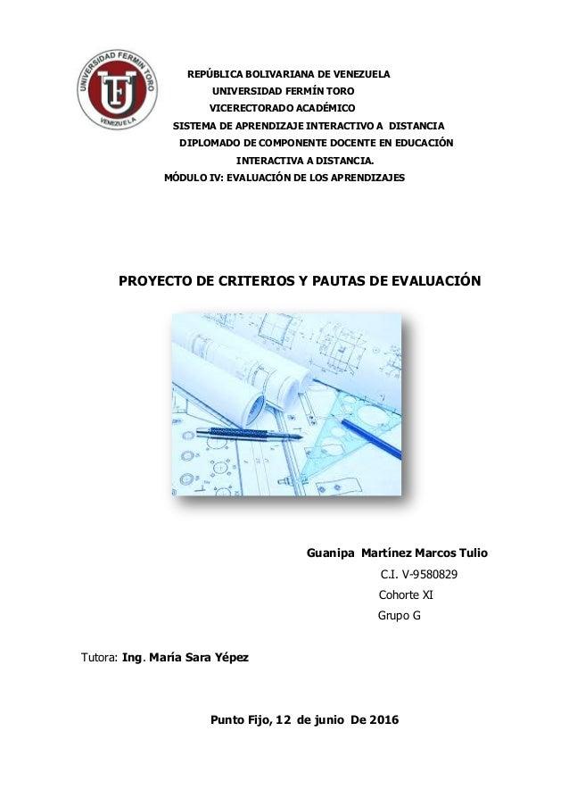 REPÚBLICA BOLIVARIANA DE VENEZUELA UNIVERSIDAD FERMÍN TORO VICERECTORADO ACADÉMICO SISTEMA DE APRENDIZAJE INTERACTIVO A DI...