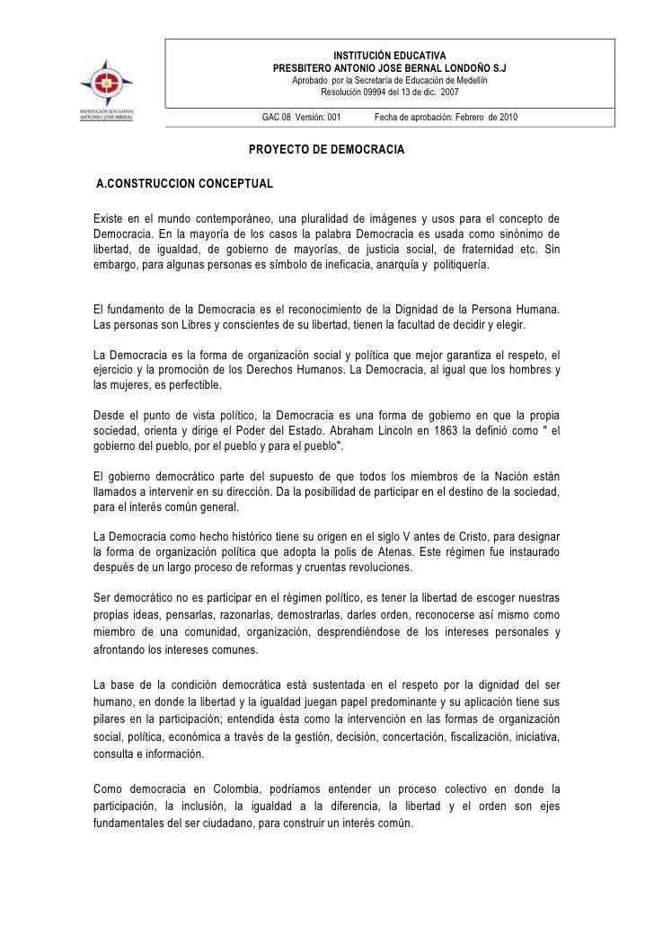 INSTITUCIÓN EDUCATIVA                                       PRESBITERO ANTONIO JOSE BERNAL LONDOÑO S.J                    ...