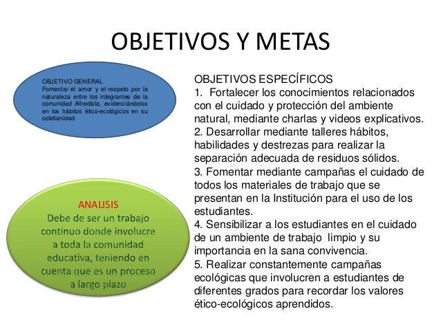 objetivos de un vivero proyecto de educacion ambiental grupo23