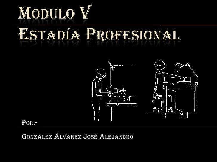 MODULO VESTADÍA PROFESIONALPOR.-GONZÁLEZ ÁLVAREZ JOSÉ ALEJANDRO