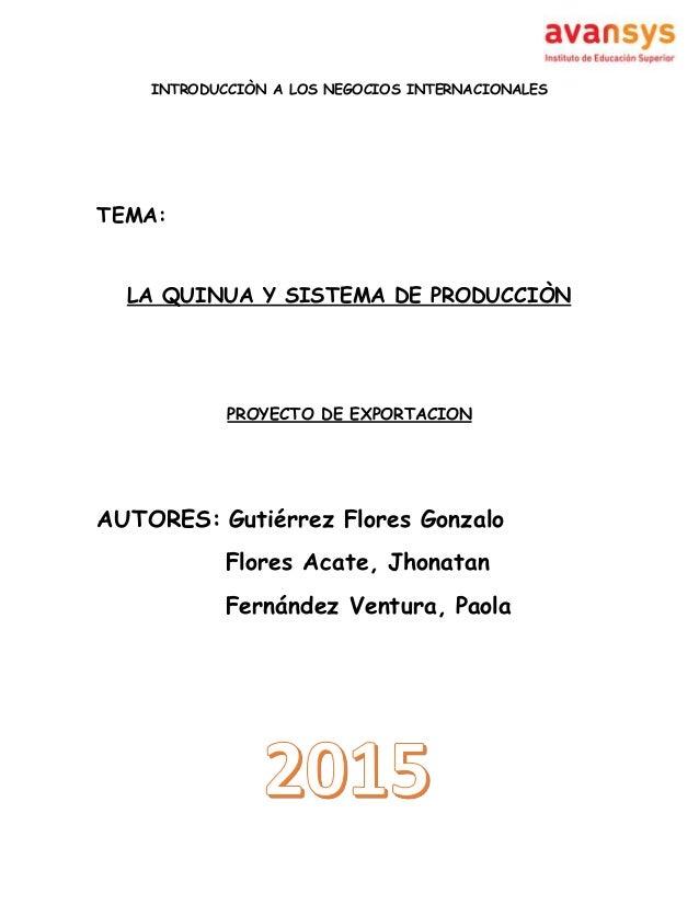 proyecto de exportacion ExportaciÓn de canicas importaciÓn de televisores proyecto de eua población: 3 13847465 (julio 2011 est) tasa de crecimiento: 0,899% (2011 est.
