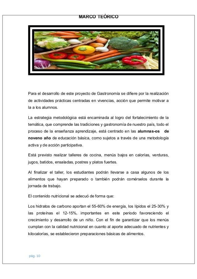 Proyecto de gastronomía 2016