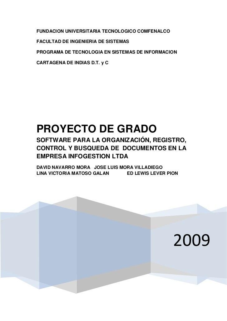 FUNDACION UNIVERSITARIA TECNOLOGICO COMFENALCO  FACULTAD DE INGENIERIA DE SISTEMAS  PROGRAMA DE TECNOLOGIA EN SISTEMAS DE ...