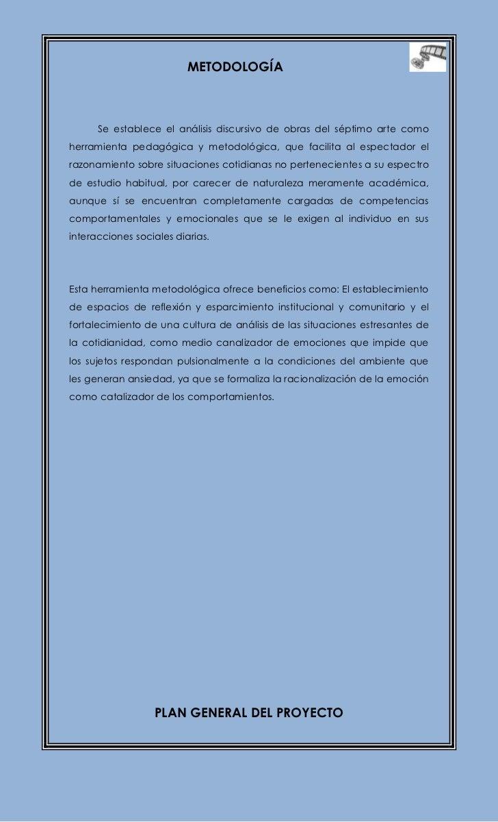 Proyecto De Impacto Comunitario Cine Estr S