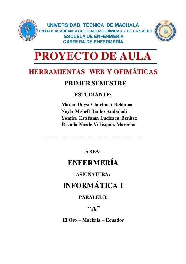 UNIVERSIDAD TÉCNICA DE MACHALA UNIDAD ACADÉMICA DE CIENCIAS QUÍMICAS Y DE LA SALUD ESCUELA DE ENFERMERÍA CARRERA DE ENFERM...