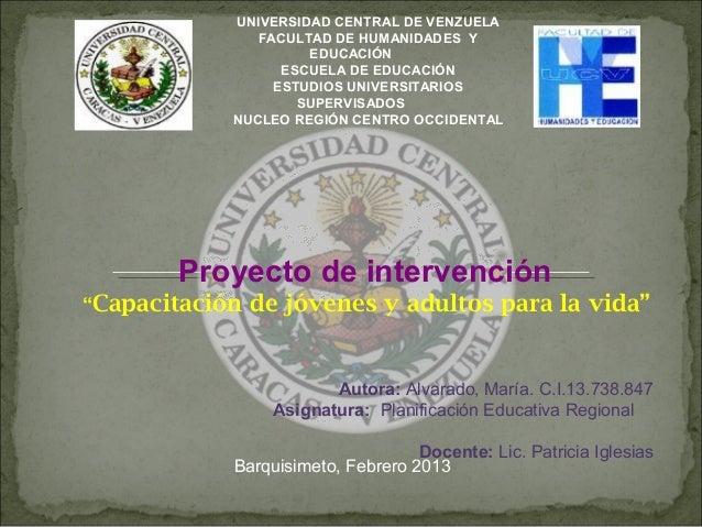 UNIVERSIDAD CENTRAL DE VENZUELA               FACULTAD DE HUMANIDADES Y                     EDUCACIÓN                  ESC...