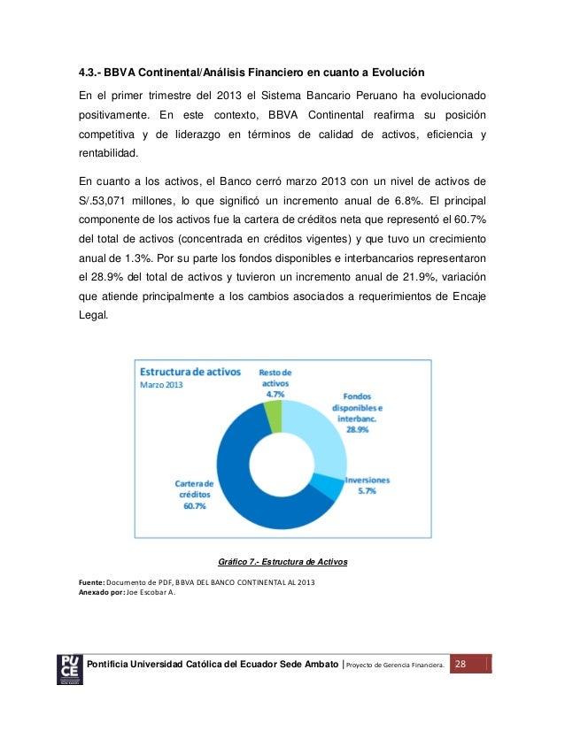 Proyecto de investigaci n formativa gerencia financiera for Banco continental oficina principal