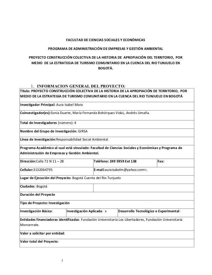 FACULTAD DE CIENCIAS SOCIALES Y ECONÓMICAS                   PROGRAMA DE ADMINISTRACIÓN DE EMPRESAS Y GESTIÓN AMBIENTAL   ...