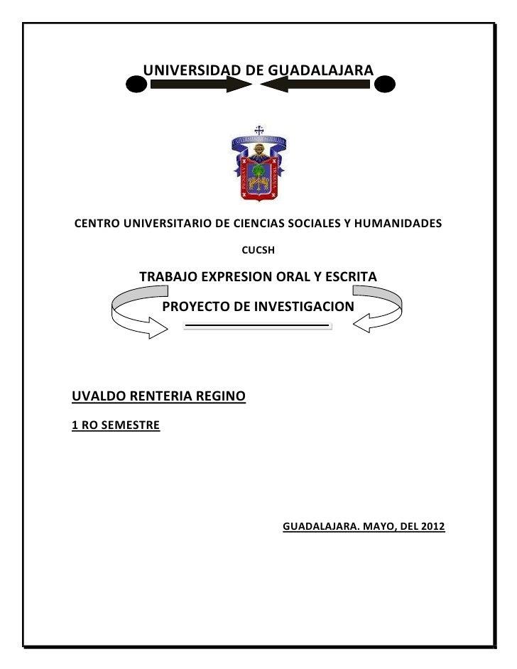 UNIVERSIDAD DE GUADALAJARACENTRO UNIVERSITARIO DE CIENCIAS SOCIALES Y HUMANIDADES                          CUCSH         T...