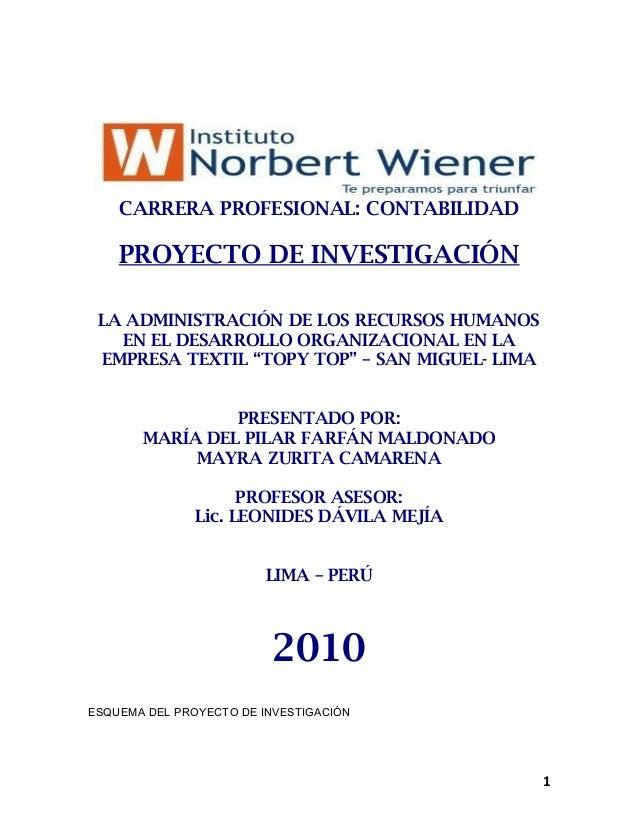 8a49c99d92 CARRERA PROFESIONAL  CONTABILIDAD PROYECTO DE INVESTIGACIÓN LA  ADMINISTRACIÓN DE LOS RECURSOS HUMANOS EN EL DESARROLL ...