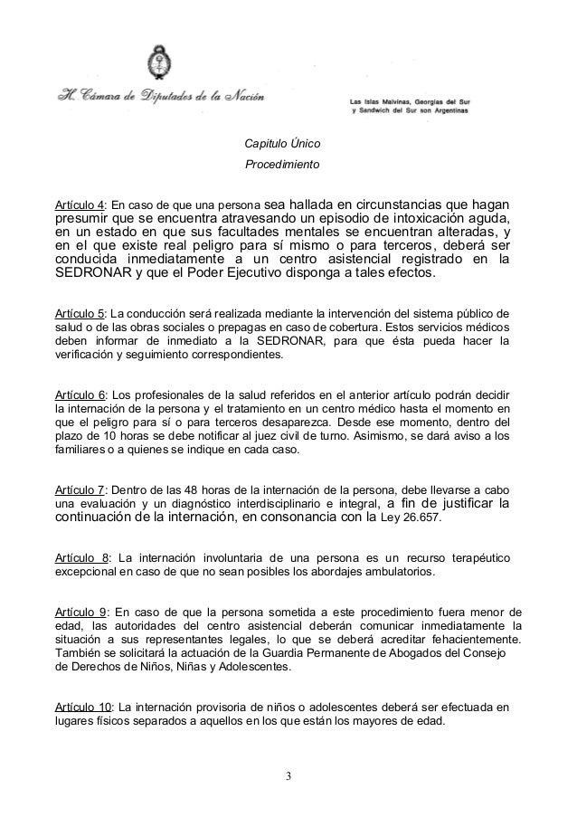 Proyecto de ley    internación terapéutica Slide 3
