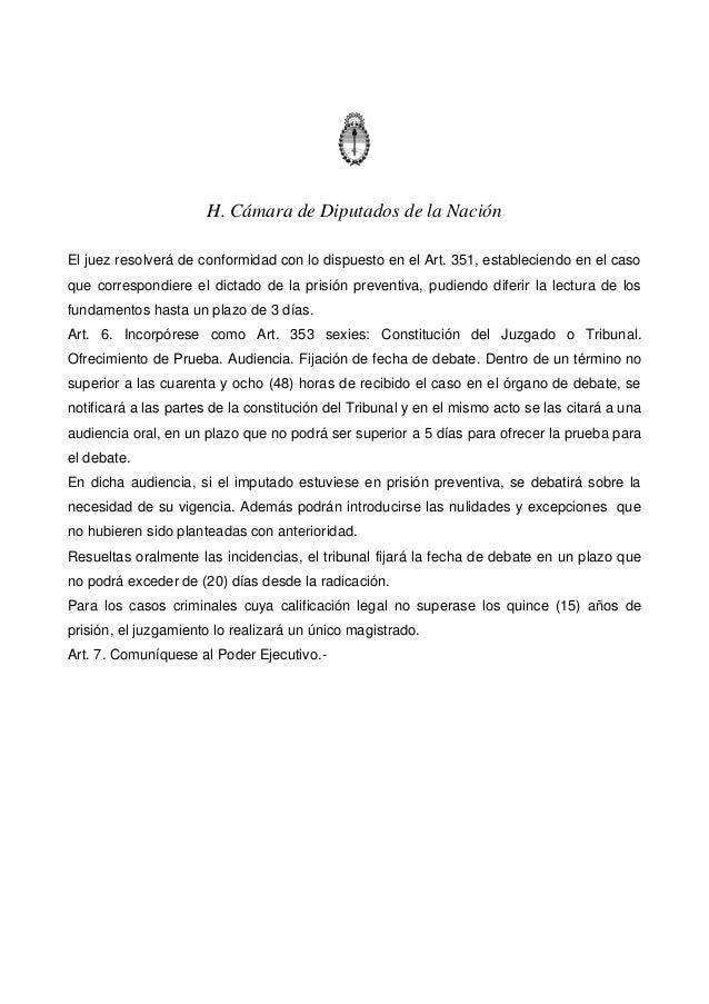 Proyecto de ley   juicio por flagrancia Slide 3