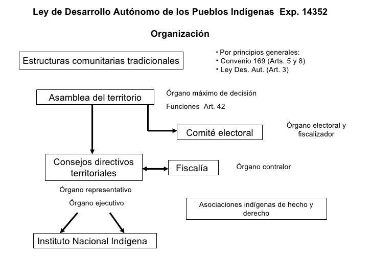 Ley de Desarrollo Autónomo de los Pueblos Indígenas  Exp. 14352 Organización Estructuras comunitarias tradicionales <ul><l...