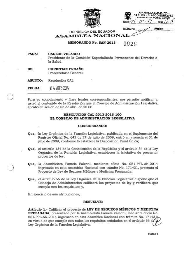 Proyecto de ley de seguros médicos y medicina prepagada
