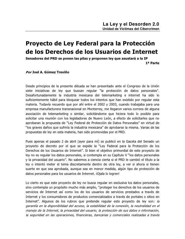 La Ley y el Desorden 2.0                                                     Unidad de Víctimas del CibercrimenProyecto de...