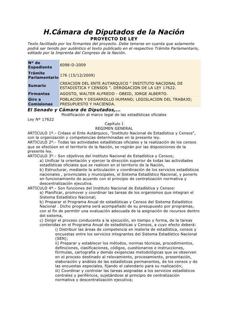 H.Cámara de Diputados de la Nación                                  PROYECTO DE LEY Texto facilitado por los firmantes del...
