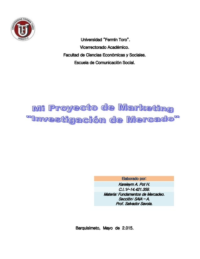 """Universidad """"Fermín Toro"""". Vicerrectorado Académico. Facultad de Ciencias Económicas y Sociales. Escuela de Comunicación S..."""