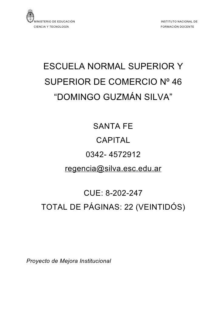 MINISTERIO DE EDUCACIÓN                    INSTITUTO NACIONAL DE   CIENCIA Y TECNOLOGÍA                       FORMACIÓN DO...