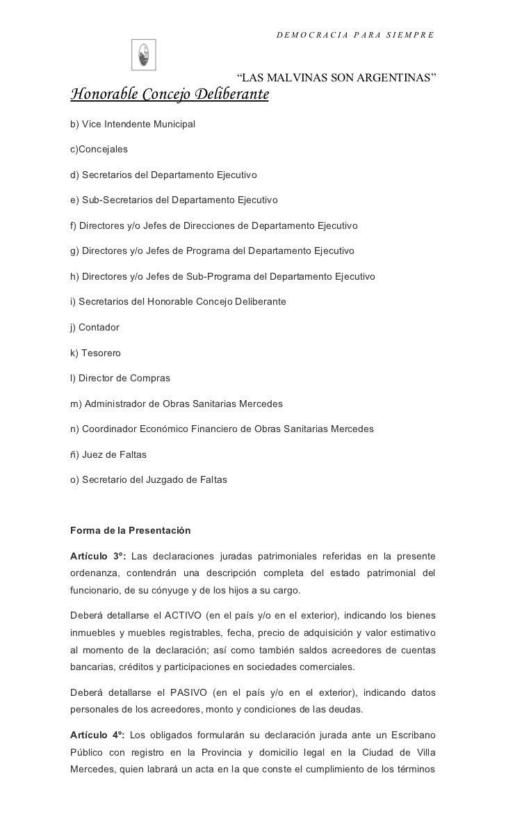 Proyecto De Ordenanza # Muebles Registrables