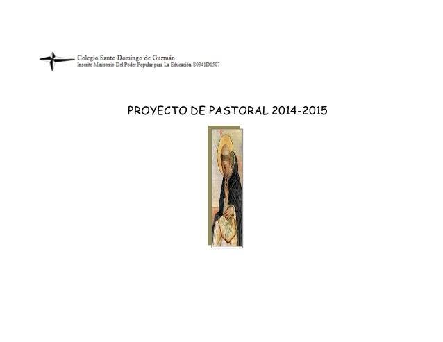 PROYECTO DE PASTORAL 2014-2015