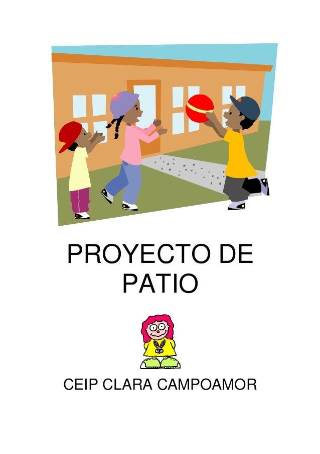 Proyecto de patio for Proyecto de comedor escolar