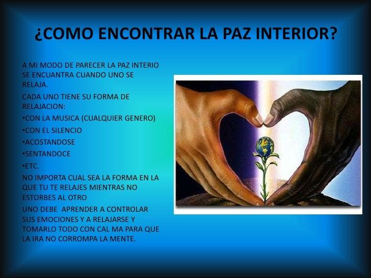 Proyecto de paz for Encontrar paz interior