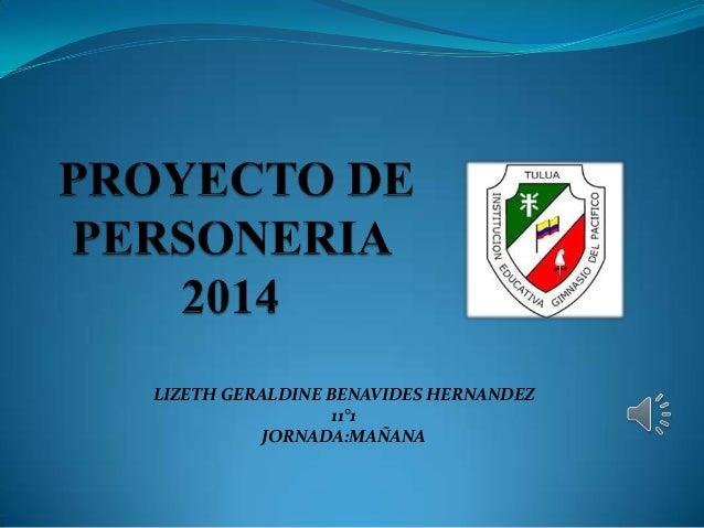 Proyecto de personer a 2014 instituci n educativa gimnasio for Gimnasio pacific