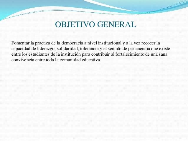 Proyecto de personer a 2014 instituci n educativa gimnasio for Objetivo general de un vivero