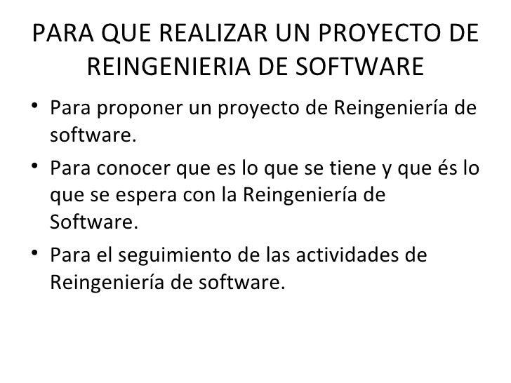 Proyecto de reingenieria  de software Slide 2
