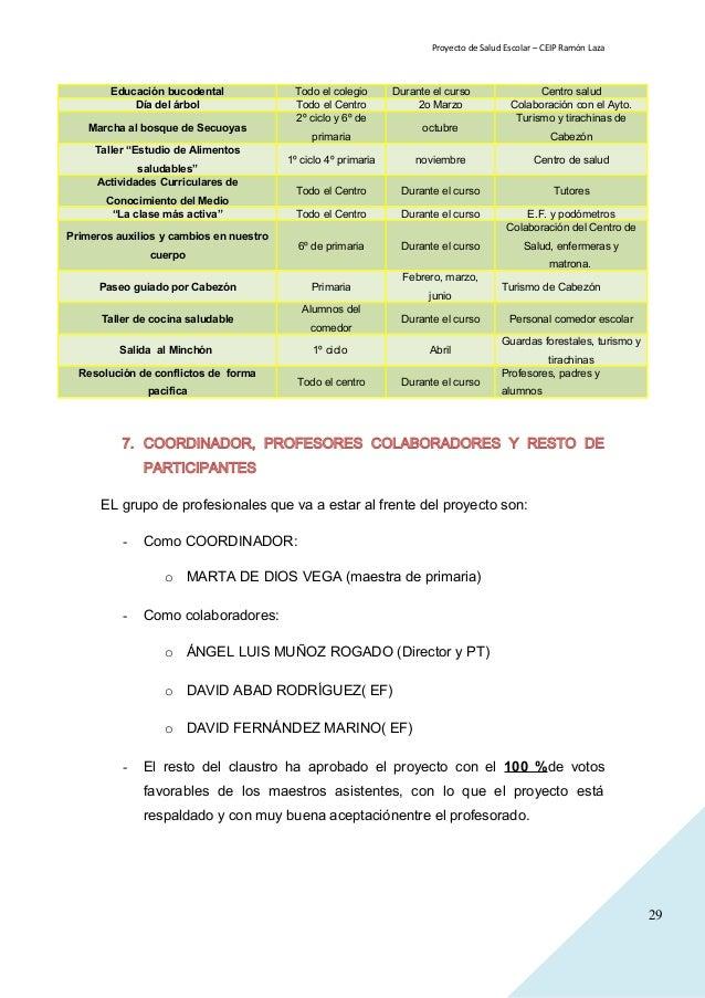 Proyecto de salud escolar 014 015 - Proyecto de comedor escolar ...