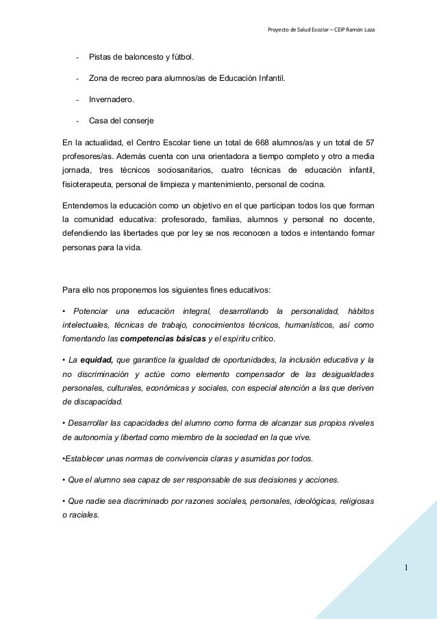 Proyecto De Salud Escolar 15 16