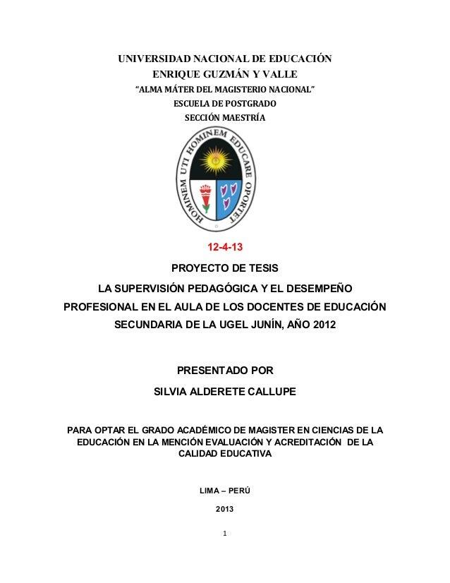"""UNIVERSIDAD NACIONAL DE EDUCACIÓN  ENRIQUE GUZMÁN Y VALLE  """"ALMA MÁTER DEL MAGISTERIO NACIONAL""""  ESCUELA DE POSTGRADO  SEC..."""
