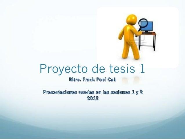Proyecto de tesis 1
