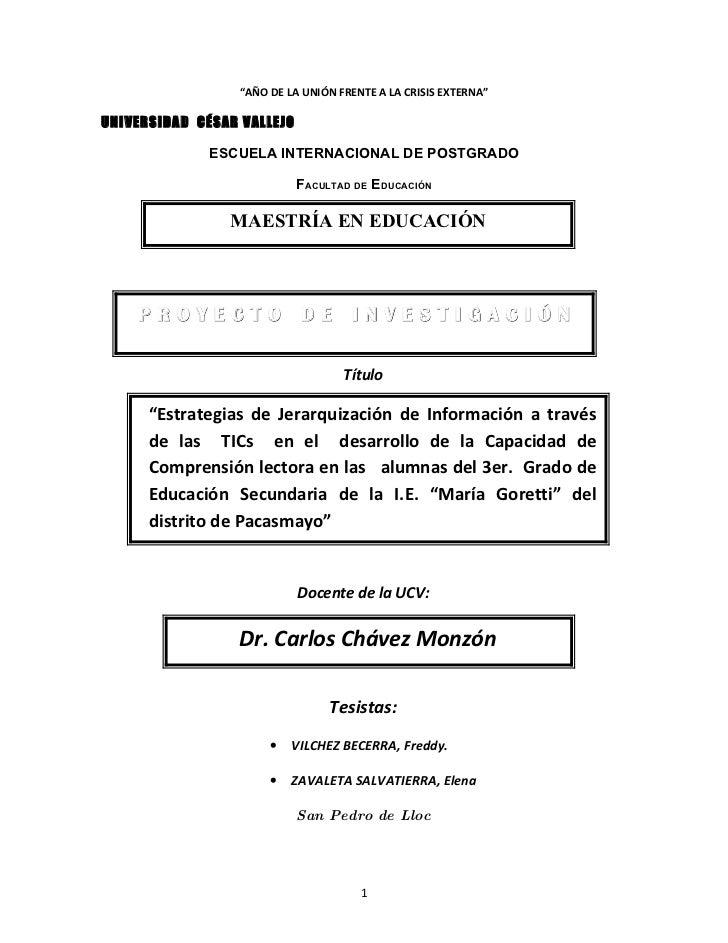 """""""AÑO DE LA UNIÓN FRENTE A LA CRISIS EXTERNA""""  UNIVERSIDAD CÉSAR VALLEJO               ESCUELA INTERNACIONAL DE POSTGRADO  ..."""