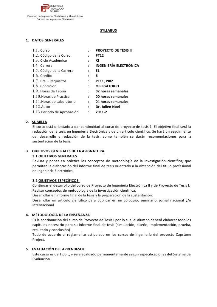 Facultad de Ingeniería Electrónica y Mecatrónica        Carrera de Ingeniería Electrónica                                 ...