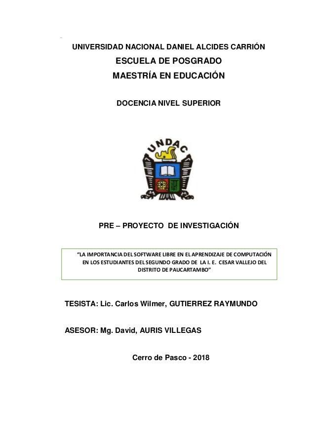 Proyecto De Tesis Maestria La Importancia Del Software Libre