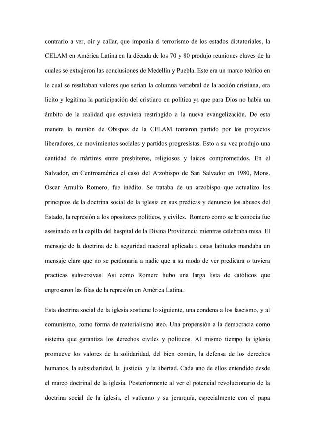 contrario a ver, oír y callar, que imponía el terrorismo de los estados dictatoriales, la CELAM en América Latina en la dé...