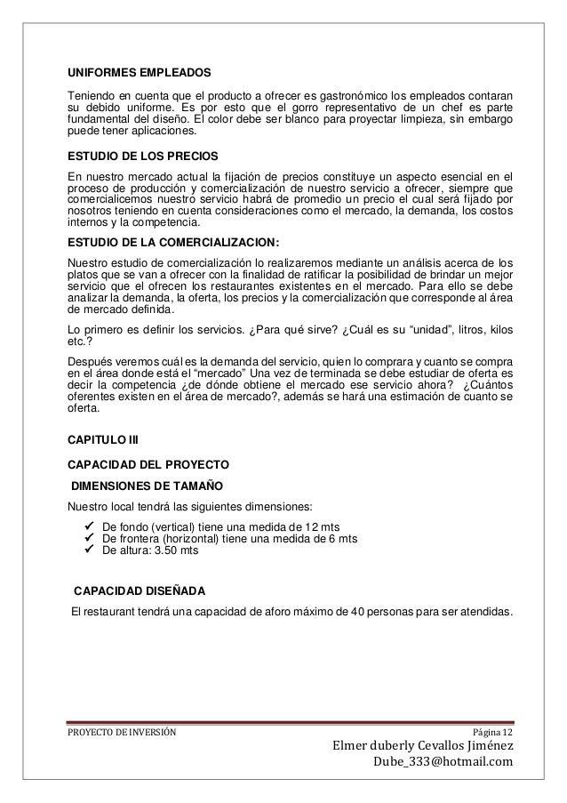 PLANFIICACION DE PRESUPUESTO DE UN RESTAURANTE