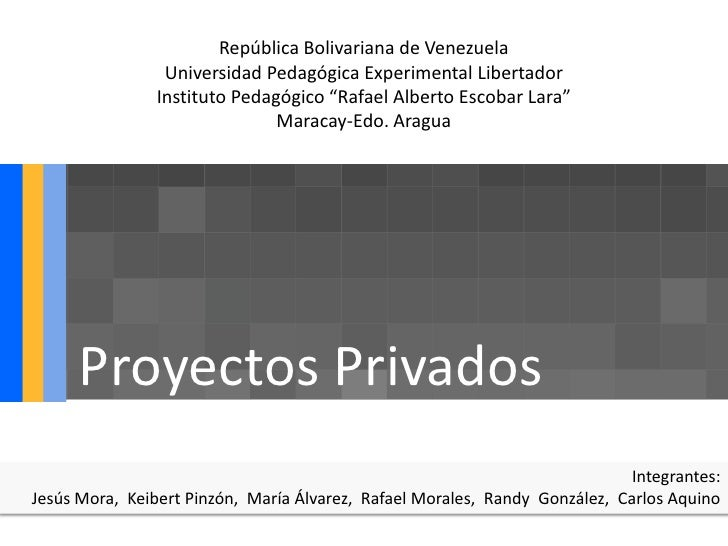 República Bolivariana de Venezuela                 Universidad Pedagógica Experimental Libertador                Instituto...