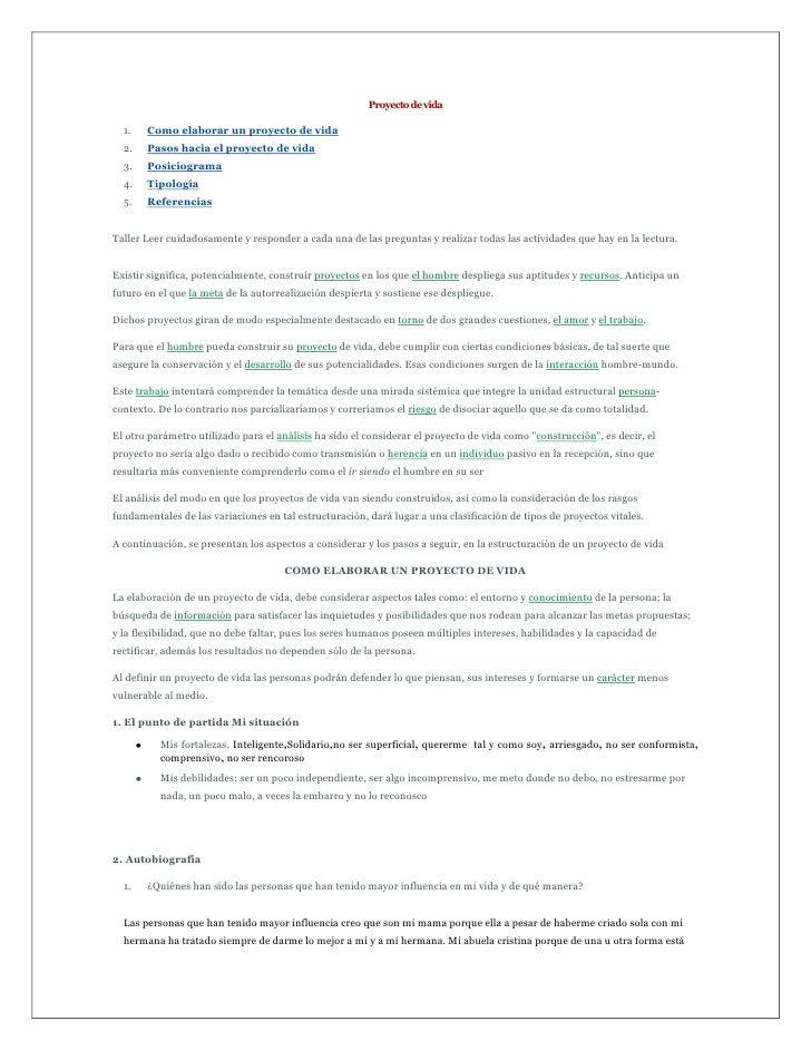 Proyecto de vida<br />Como elaborar un proyecto de vida <br />Pasos hacia el proyecto de vida <br />Posiciograma <br />Tip...