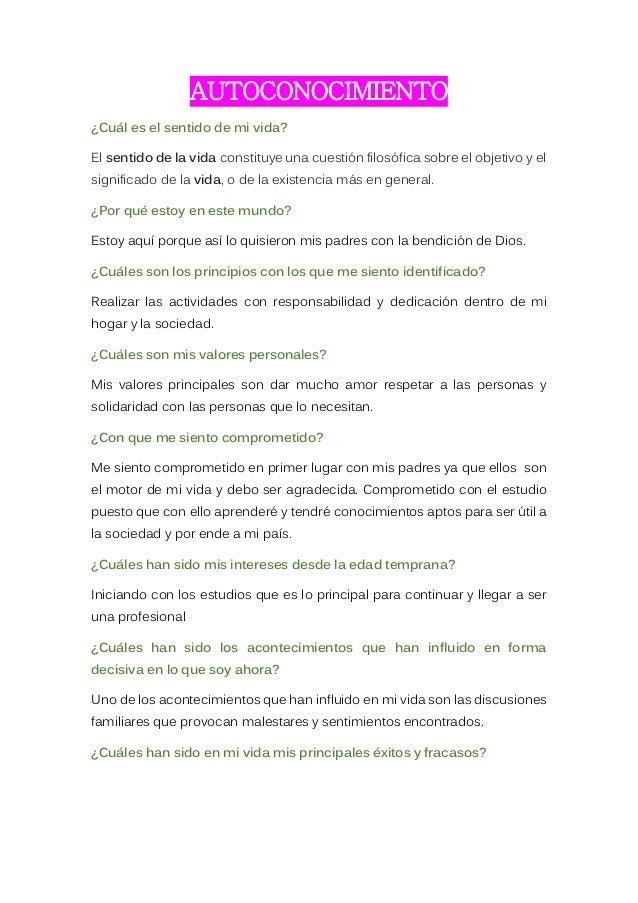 Proyecto De Vida Karen Velasco Pdf