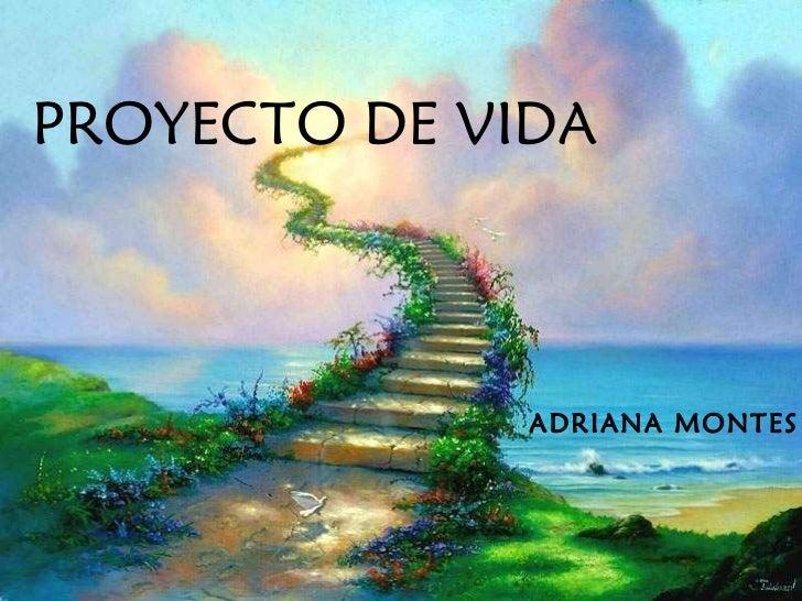 PROYECTO DE VIDA ADRIANA MONTES