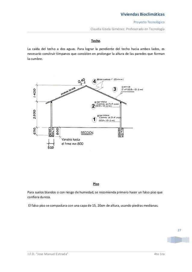 Proyecto de viviendas bioclimaticas - Altura de un piso ...